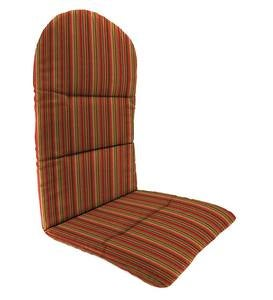 "Sunbrella Classic Adirondack Cushion, 49"" x 20½"" x 2½""; hinged at 18"" from bottom - Cherry Stripe"
