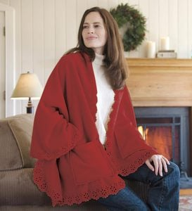 Fleece Cuddle Cape With Pockets And Optional Personalization