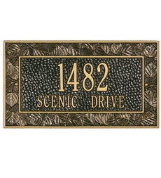 American-Made Personalized Aspen Address Plaque In Cast Aluminum swatch image