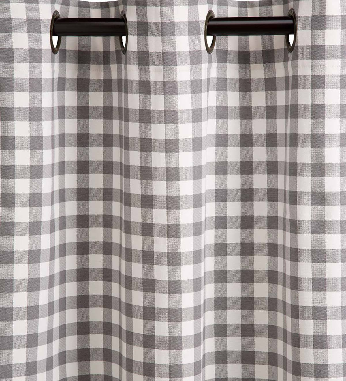 "Sale! Thermalogic™ Grey Check Grommet-Top Curtain Pair, 72""L"