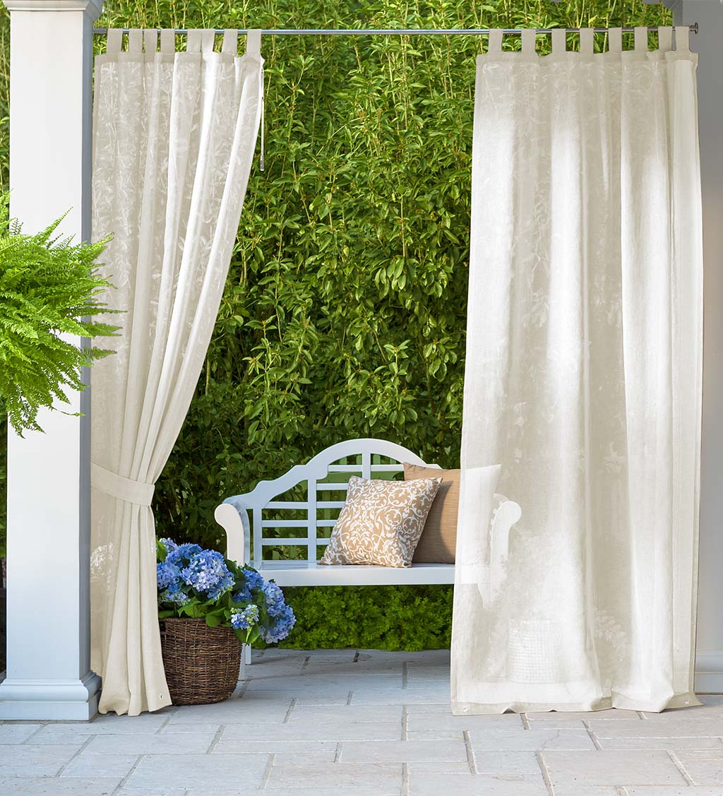 Shenandoah Outdoor SunSpun Tab Top Outdoor Curtain