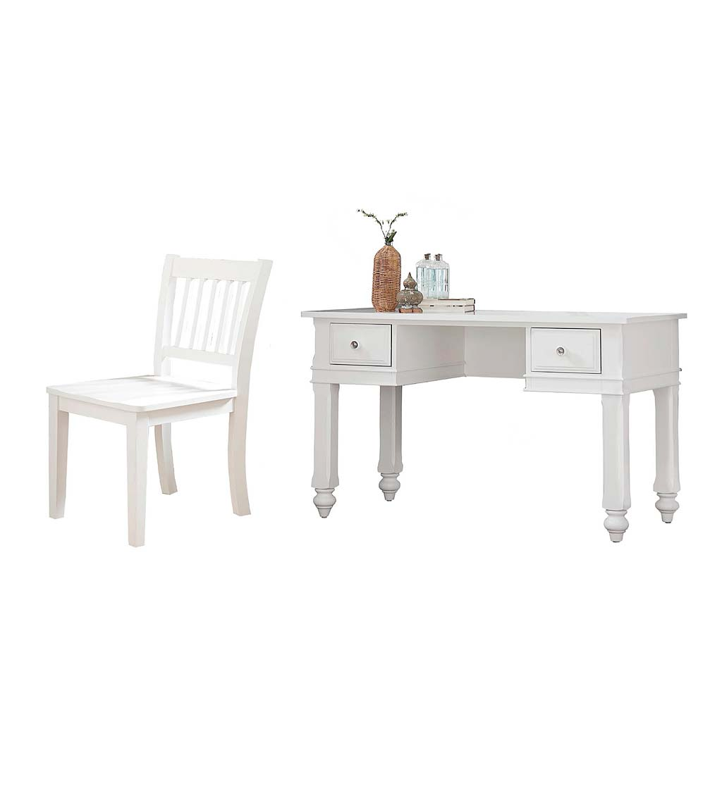 Lakeland Wood Writing Desk and Chair