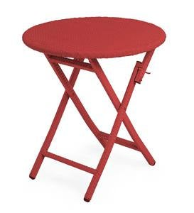 Sale! Tangier Wicker Folding Round Bistro Table - Red