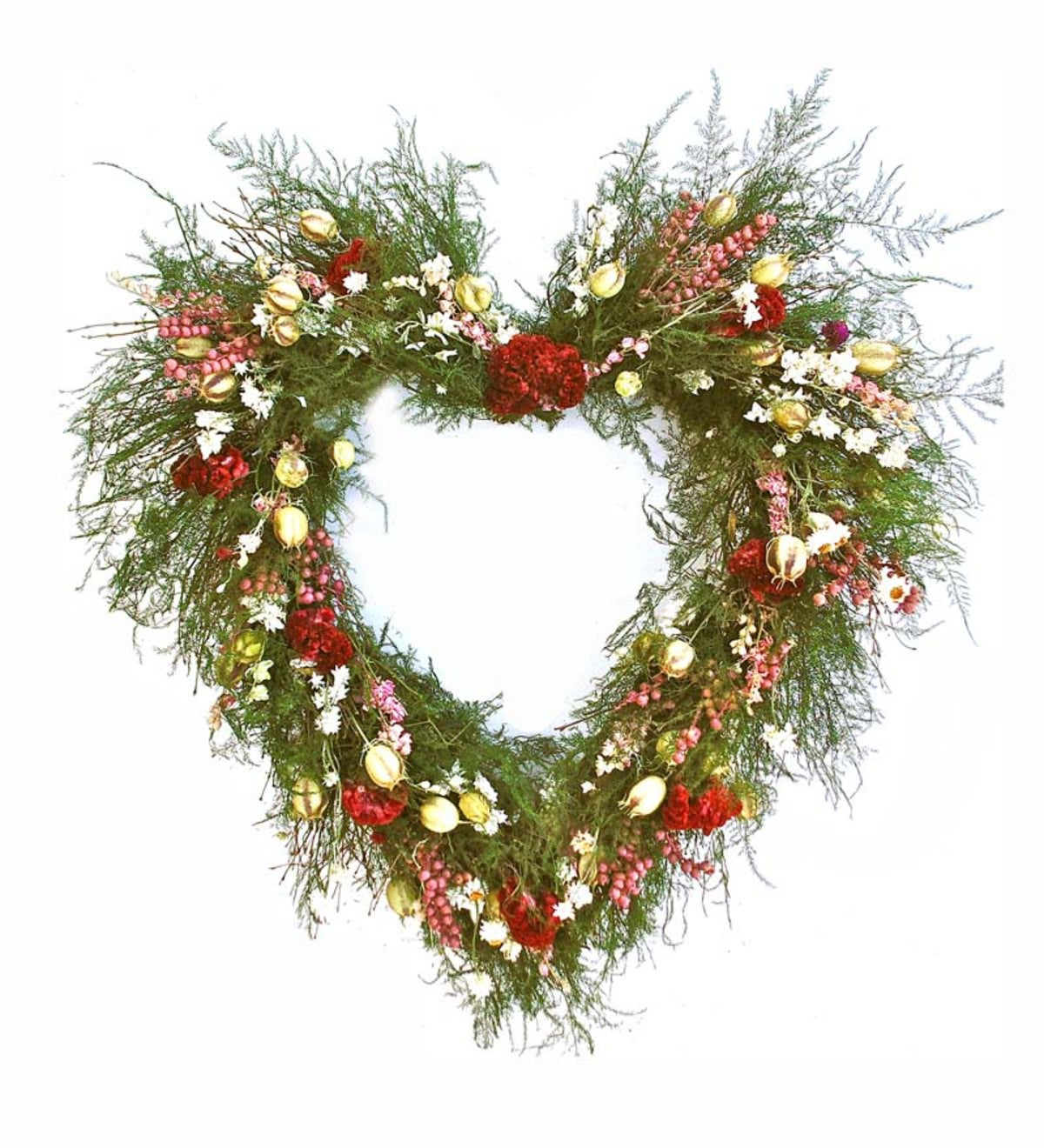 Handcrafted Heart Indoor Wreath