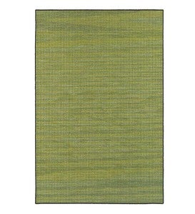 "Elements Textured Indoor/Outdoor Rug, 6'7""x 9'6"" - Blue/Tan"