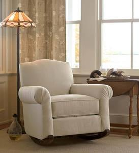 Upholstered Cottage Rocker, USA-Made Bedford Collection