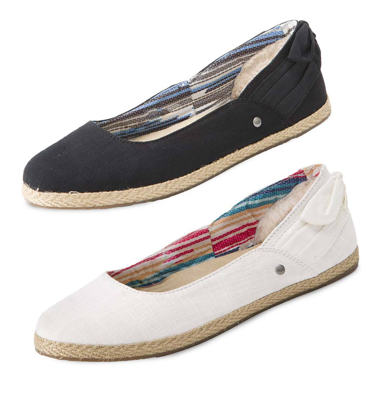 UGG Women's Perrie Cotton Canvas Skimmers   PlowHearth