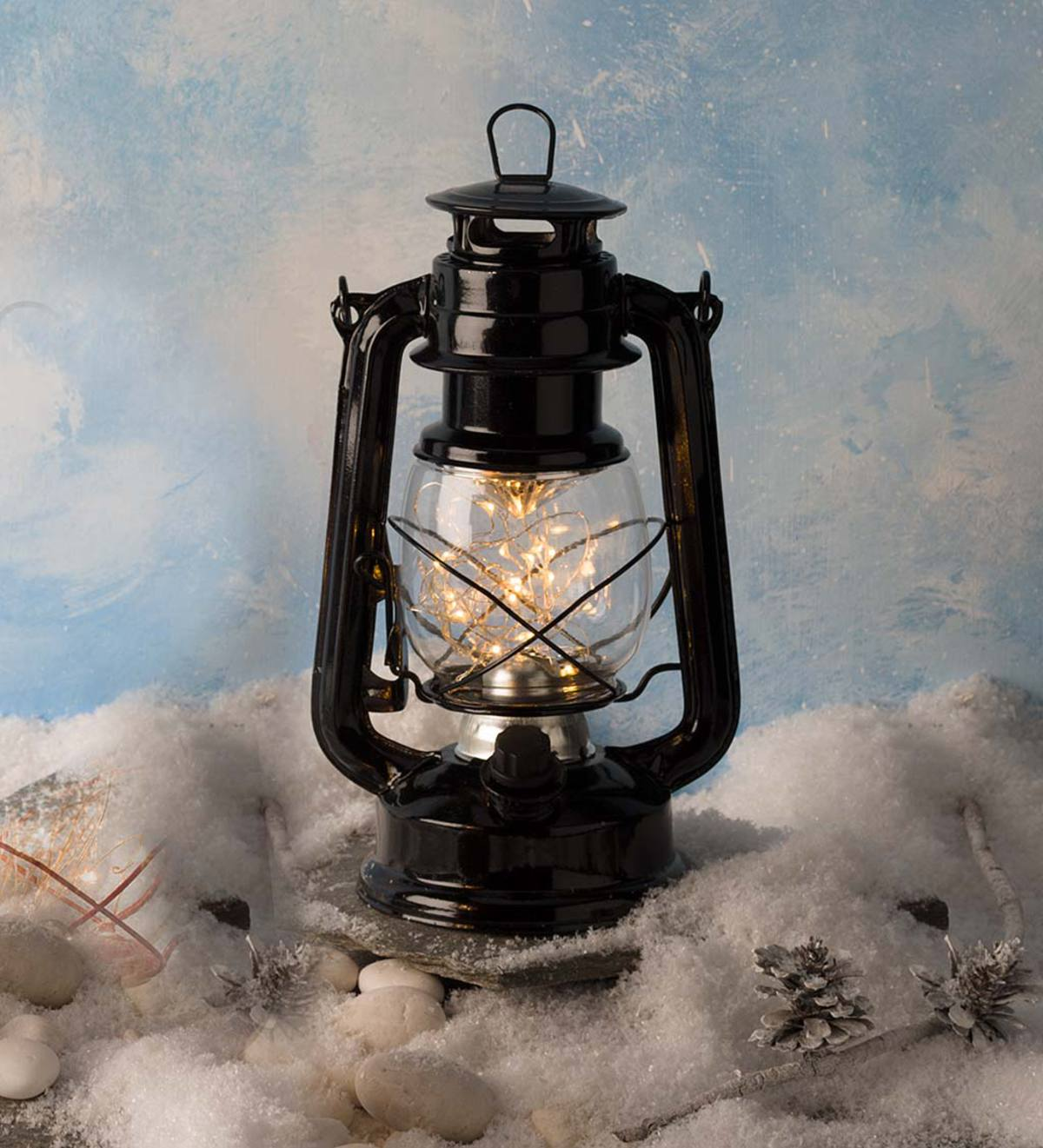 string light lantern battery operated black friday sale plowhearth. Black Bedroom Furniture Sets. Home Design Ideas