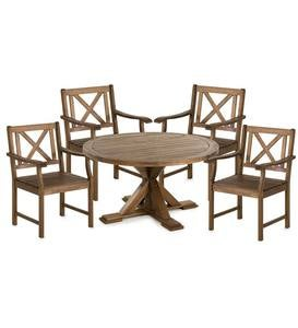 Claremont Eucalyptus Round Dining Table and Four Chairs