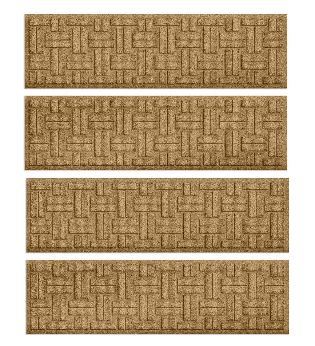 Waterhog Basket Weave Stair Tread Mats, Set of 4 swatch image