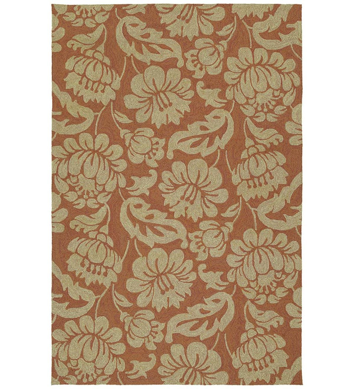 "7'9""Square Calypso Indoor/Outdoor Rug - Copper"
