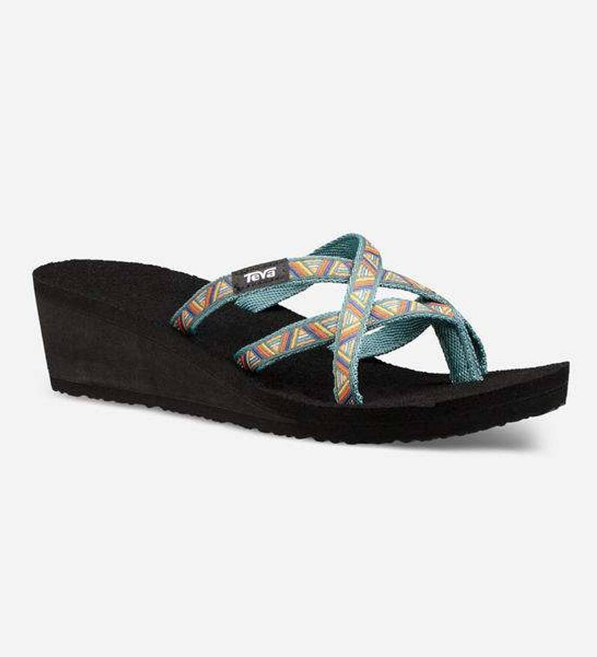 2bd9e3b914969 Teva Womens Mush Mandalyn Wedge Ola 2 - Atlantic - Size 6