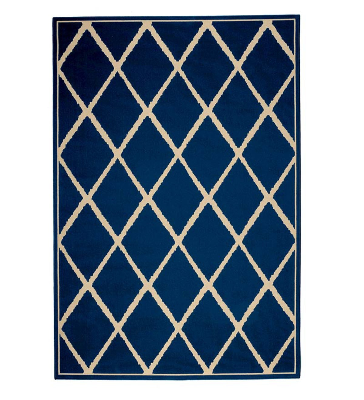 "Lattice Surry Rug, 2'5""x 4'5"" - Dark Blue"