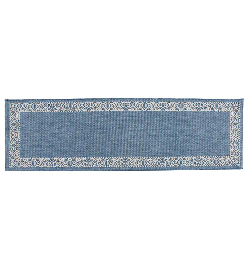 "Veranda Border Indoor/Outdoor Runner, 2'3""x 7'10"" swatch image"