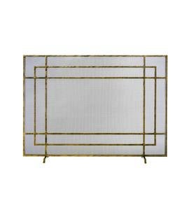 Iris Flat Panel Fireplace Screen