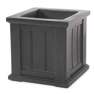 "Lexington Self-Watering Planter, 16""sq. - Anthracite"