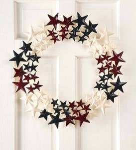 Americana Metal Stars Wreath