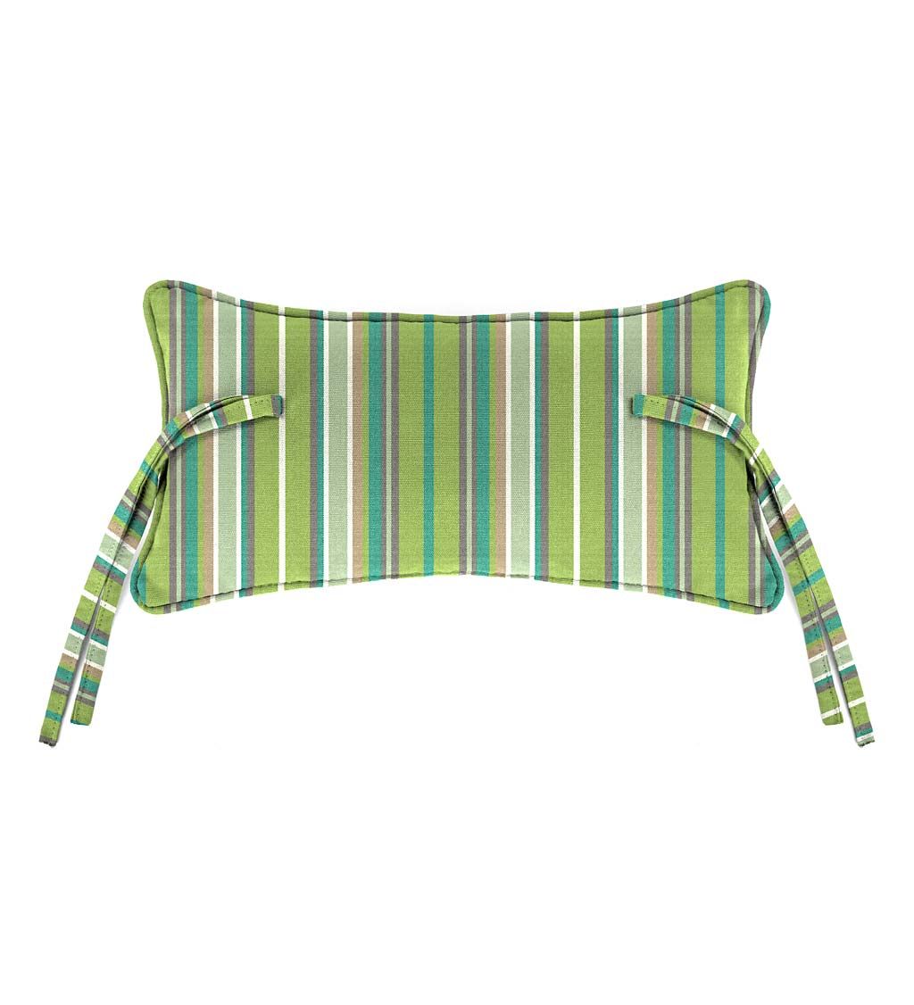 "Sunbrella Classic Headrest Pillow With Ties, 15"" x 8"" x 4½"" swatch image"