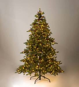 Lighted Outdoor Chippewa Spruce Faux Christmas Tree