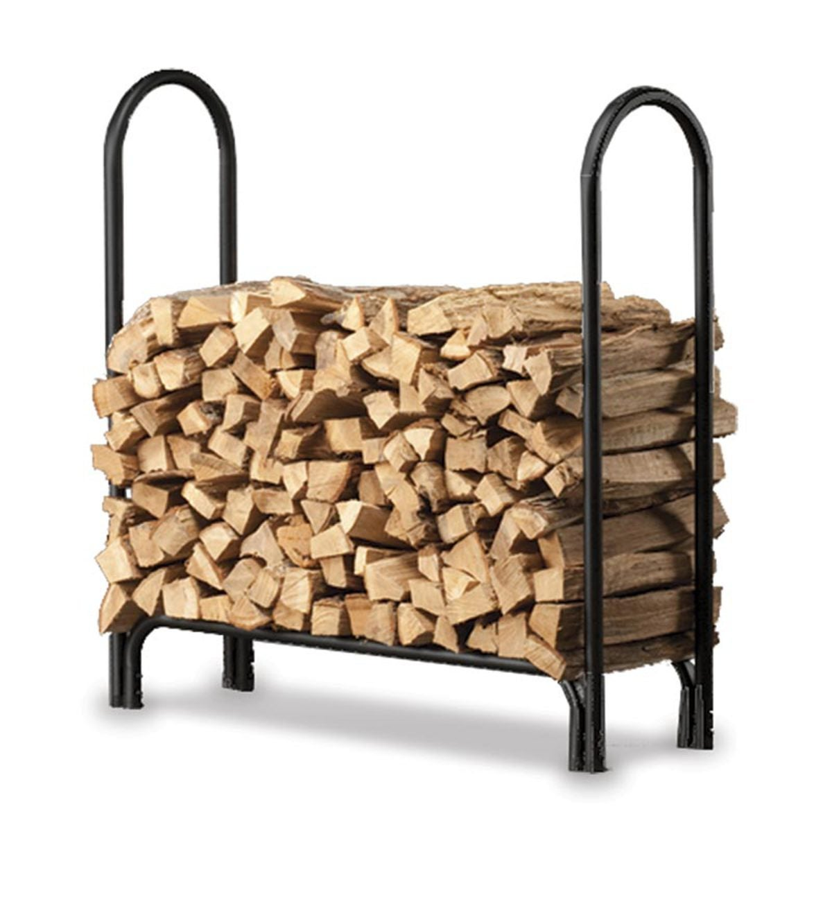 "Medium Heavy-Duty Steel Log Rack, 45""L x 13""W x 45""H"