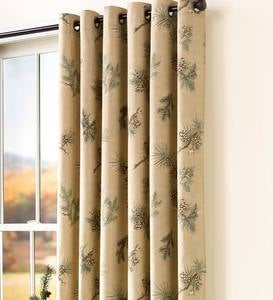 "Thermalogic™ Insulated Peaceful Pine Grommet-Top Curtain Pairs, 63""L"