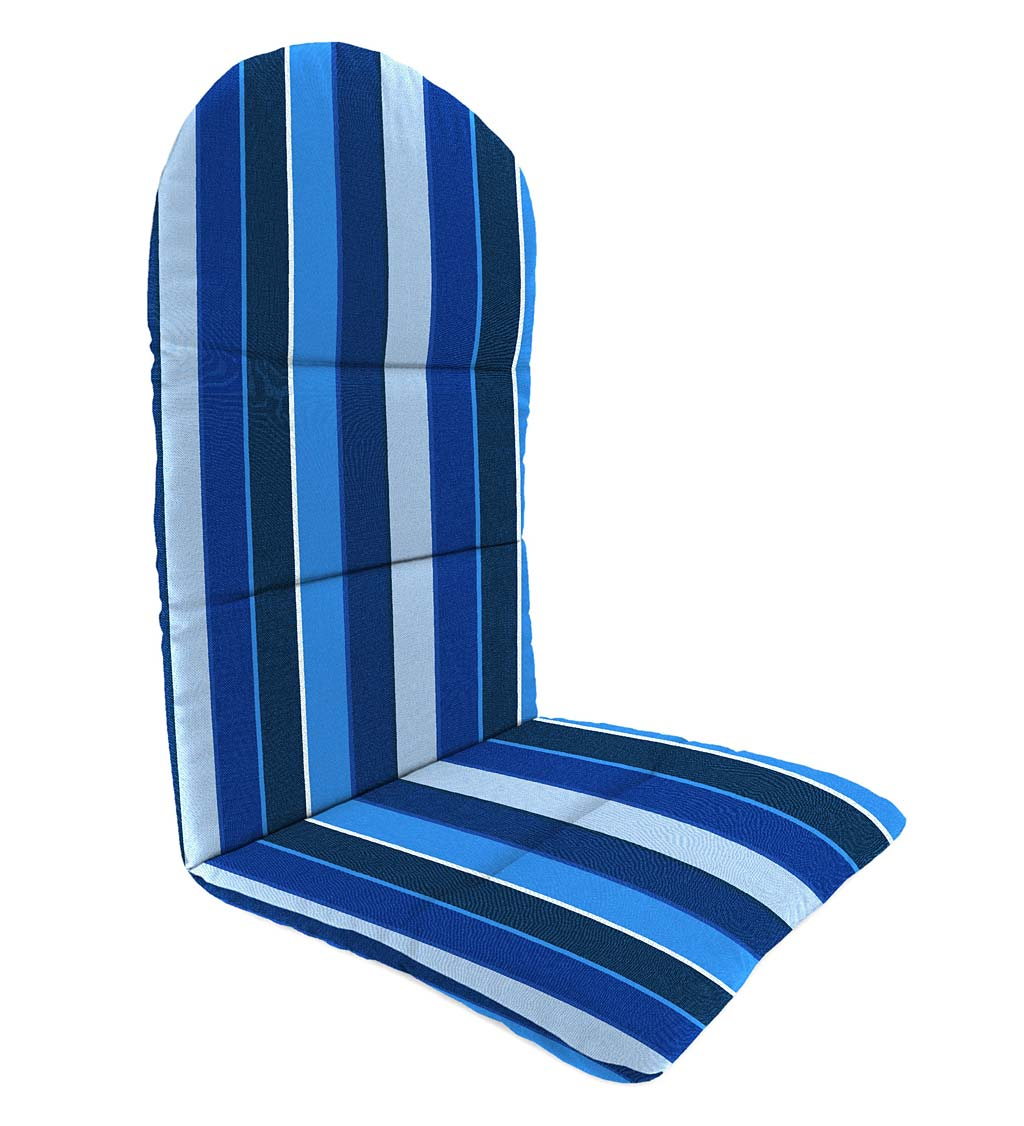 "Sunbrella Classic Adirondack Cushion, 49"" x 20½"" x 2½""; hinged at 18"" from bottom"