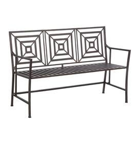 Bronze Metal Garden Bench