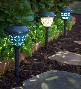 Ceramic Solar Path Lights, Set of 2