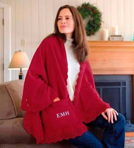 Personalized Fleece Cuddle Cape With Pockets