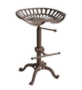 Farmhouse Metal Tractor Seat Stool and Bar Table