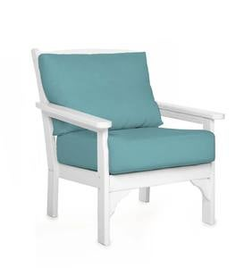 POLYWOOD Deep Seating Chair with Sunbrella Cushions