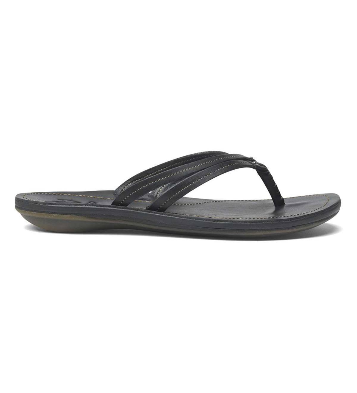 e455c4afdf90 Women s OluKai® U i Dual Strap Flip-Flop Sandals - Black Black