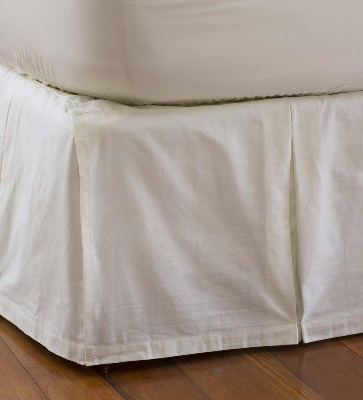 King Box Pleat Detachable Bed Skirt Plowhearth