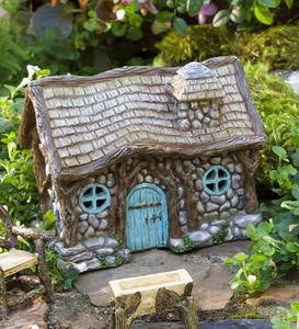 Miniature Garden Lighted Stone Fairy Shed
