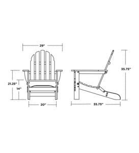 Poly-Wood™ Low-Maintenance Adirondack Chair