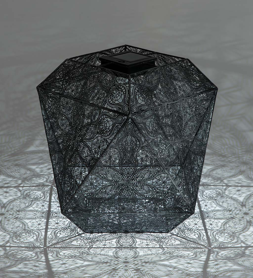 Solar Metal Geometric Hanging or Tabletop Light