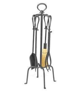 5-Piece Fireplace Tool Set with Loop Handles