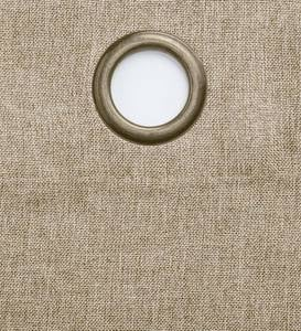 "Madison Double-Blackout Grommet Curtain Pair, 40""W x 63""L per panel - Driftwood"