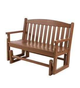 POLYWOOD Outdoor Glider Bench