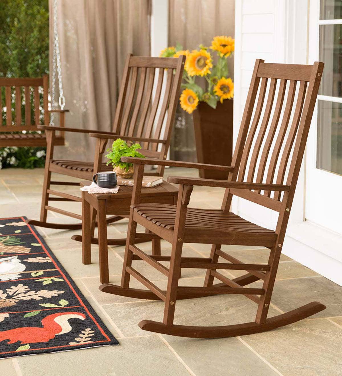 Slatted Wooden Porch Furniture