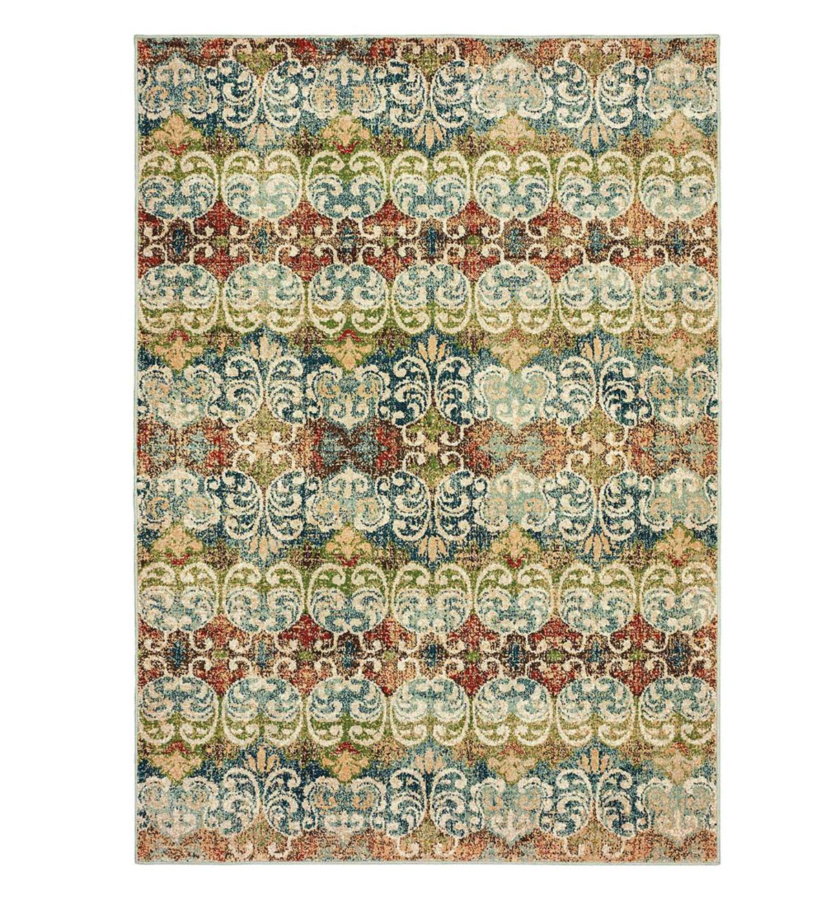 "Daughton Scroll Area Rug, 3'10""x 5'5"""