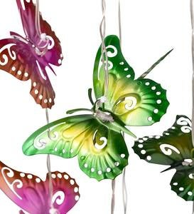 Colorful Metal Butterfly Solar Mobile