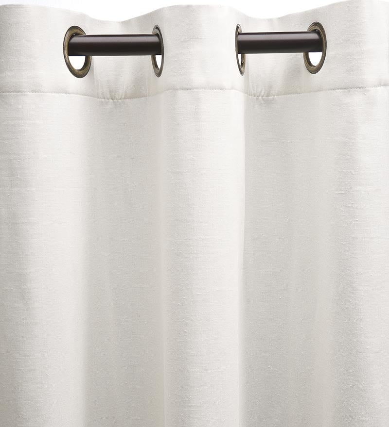 "Homespun Grommet-Top Insulated Curtain, 96""L swatch image"