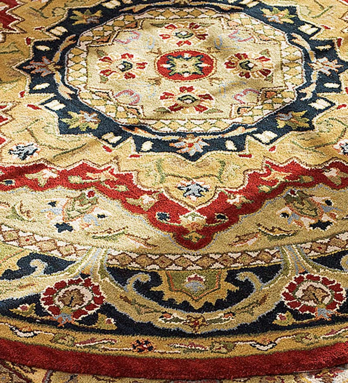 "3'9""dia. Tara Tufted Rug - Red"