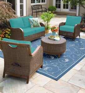 Urbanna Premium Wicker Collection with Luxury Cushions