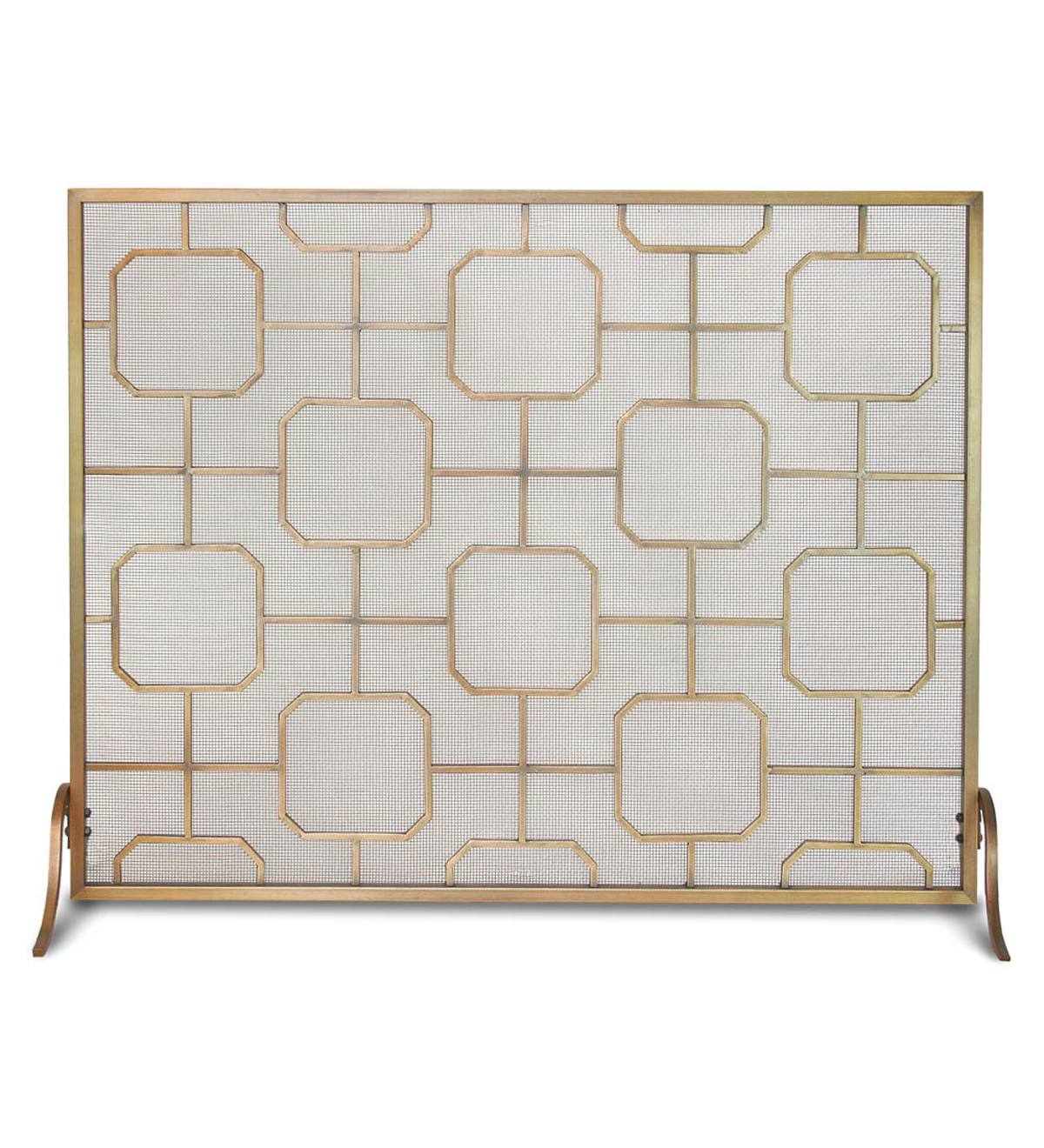 Madison Single Panel Fireplace Screen