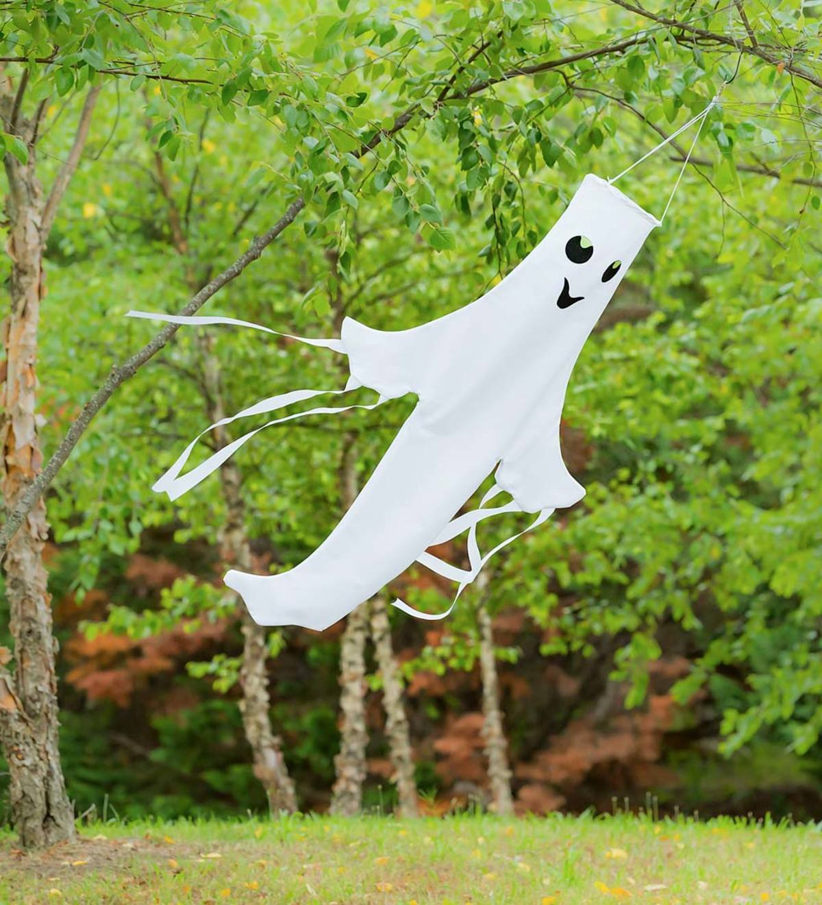 "Halloween Smiling Ghost 43"" 3D Windsock"