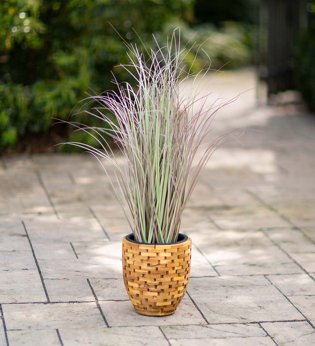 Indoor/Outdoor Faux Sea Grass Potted Plant