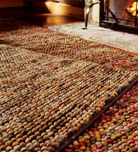 "7'6""x 9'6""Clyde Wool Rug - DARK BROWN/MULTI"