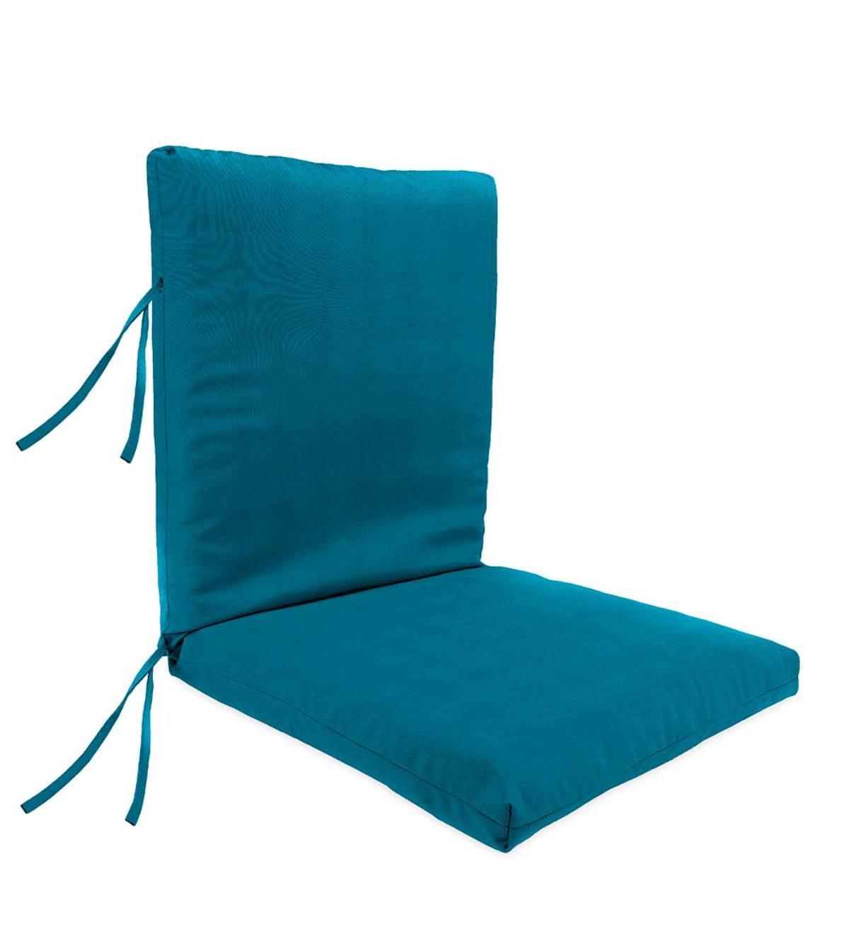 Sunbrella® Classic Large Club Chair Cushion With Ties, 44u201dx 22u201dwith